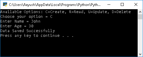 Create data in Python