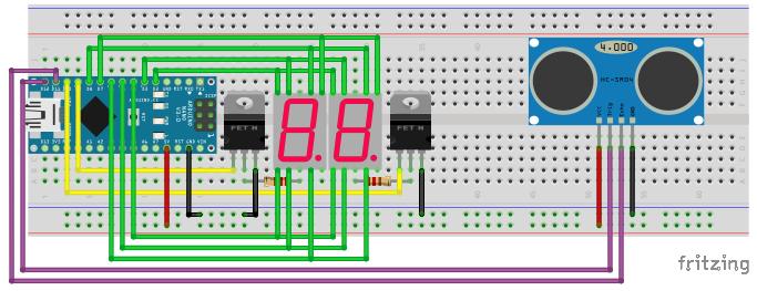 Car Distance Sensors Using an Ultrasonic Transducer - Glink