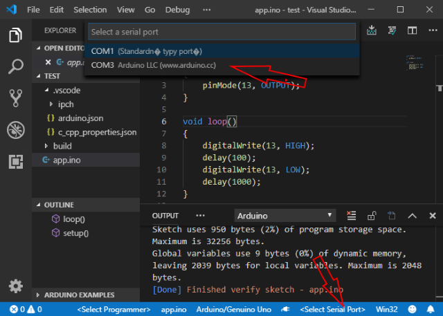 Creating and Debugging Arduino Programs in Visual Studio Code - Part