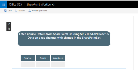 SharePoint Framework aka SPFx Web part using React & REST