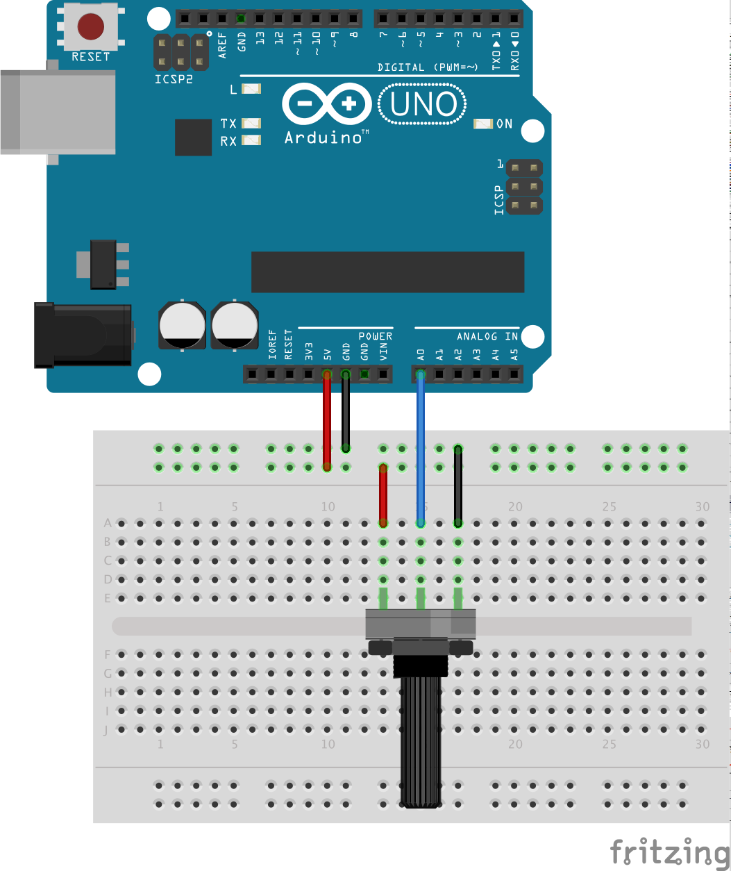 Arduino Breadboard Diagram
