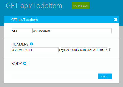 Azure Mobile Service Login HTML User Authentication