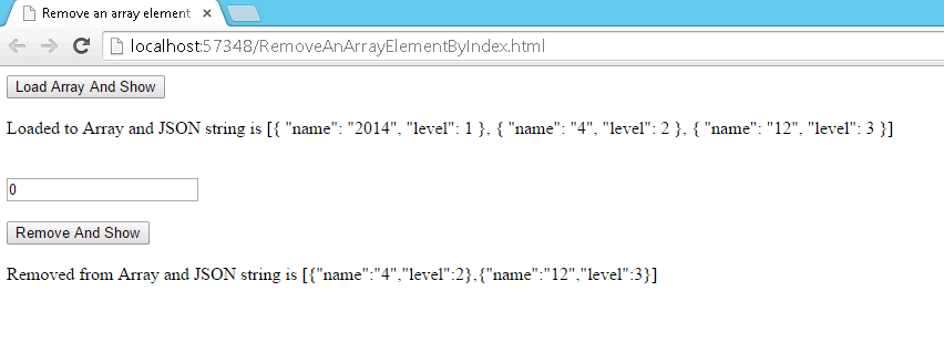 remove an array element by index   codeproject