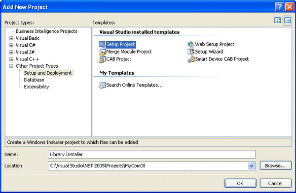 Registering a COM DLL with VS 2005: A Walk-Through - CodeProject