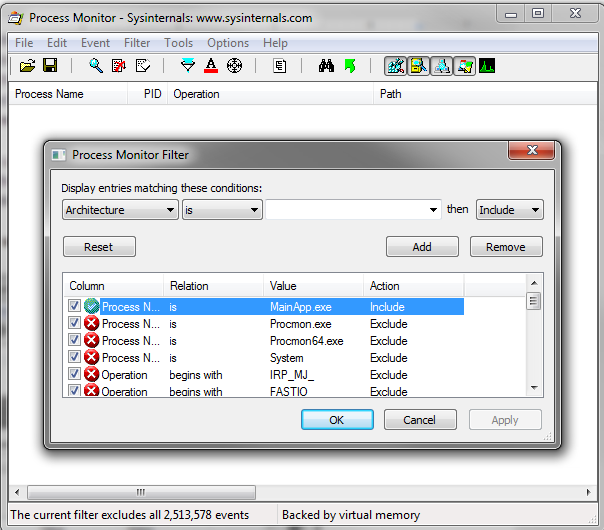 Troubleshooting dependency resolution problems using Process Monitor
