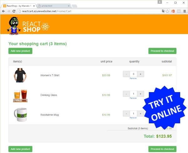 React Shop - A Tiny E-Commerce - CodeProject