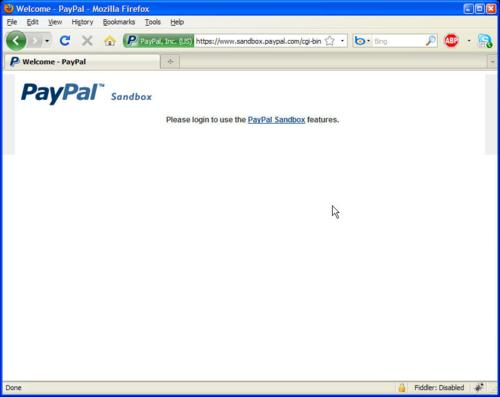 Login to use the PayPal Sandbox features