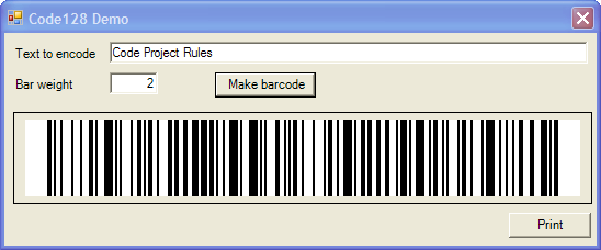 GenCode128 - A Code128 Barcode Generator - CodeProject