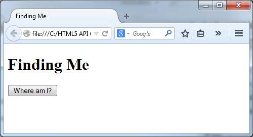 Figure 1: finding_me.html on a Browser