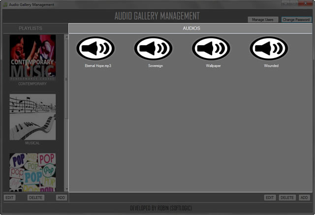 Audio-Gallery-Suite (A complete audio gallery solution made with