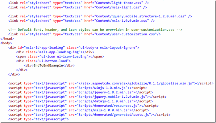 How Does a LightSwitch HTML Client Application Work