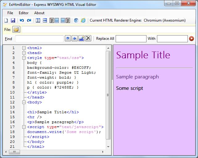 ExHtmlEditor - Express WYSIWYG HTML Visual Editor - CodeProject