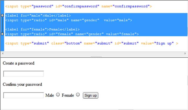 Html select option input type hidden zodiac