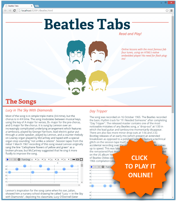 Html5 Guitar Tab Player Codeproject