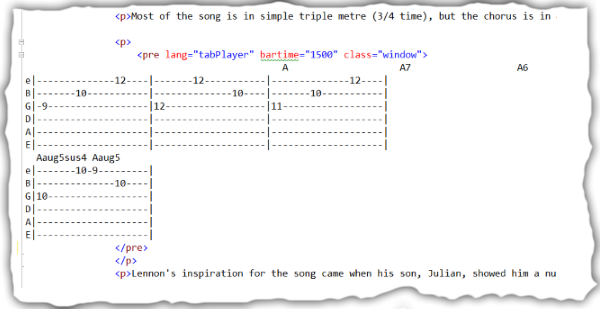 HTML5 Guitar Tab Player - CodeProject