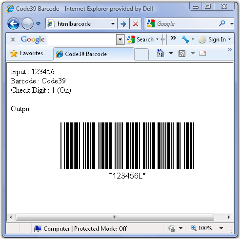 Creating a Code 39 Barcode using HTML, CSS and Javascript - CodeProject