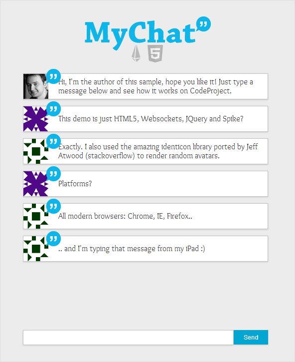 HTML5 Real-Time Chat with Websockets, jQuery, and Spike