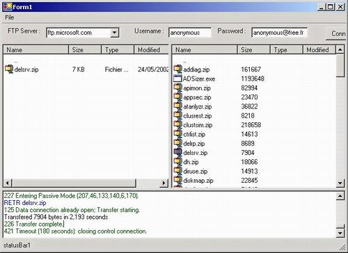 Upload and download file from ftp server using java ftp client.