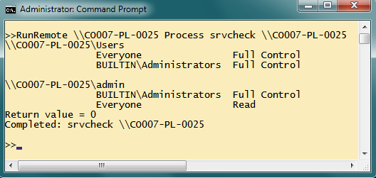 Running Any Command Line exe Remotely Using the Process