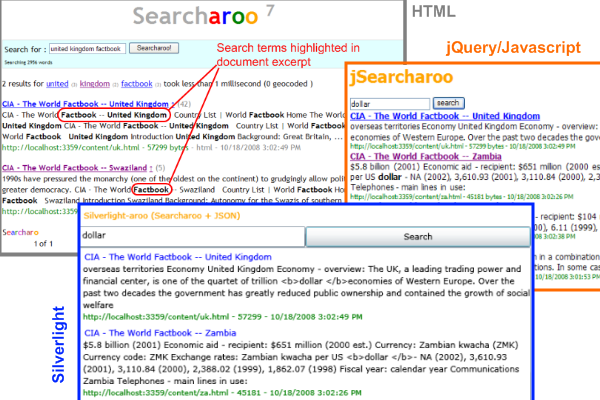 Overview of version 7: search term highlighting in doc summary