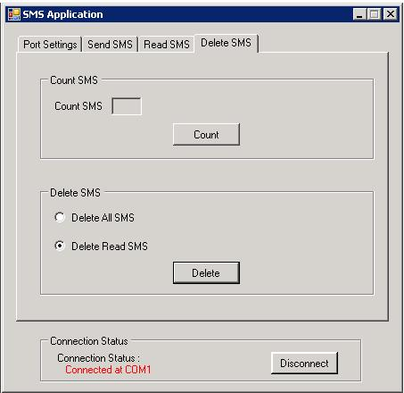 Send and Read SMS through a GSM Modem using AT Commands