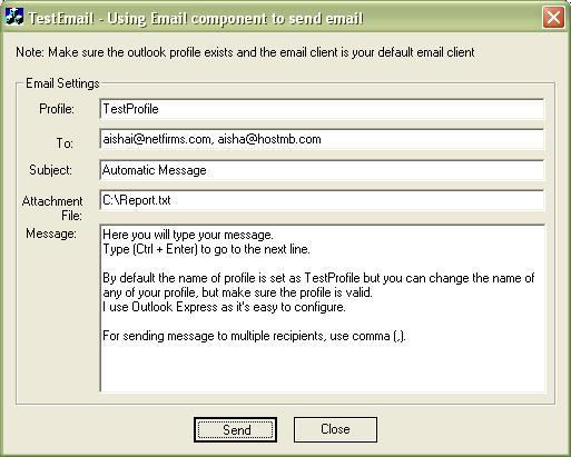 Sending Email using MAPI - A COM DLL