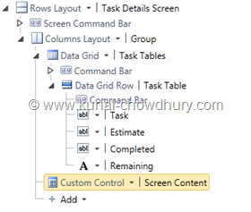 14. Custom Control Added to the Screen