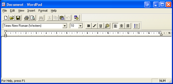 application mfc wordpad