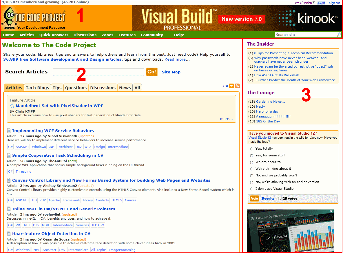 CodeProject Home Page