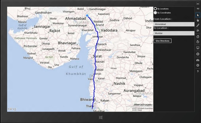 Drawing Lines In Asp : Driving route path direction with bing maps in c# xaml a windows