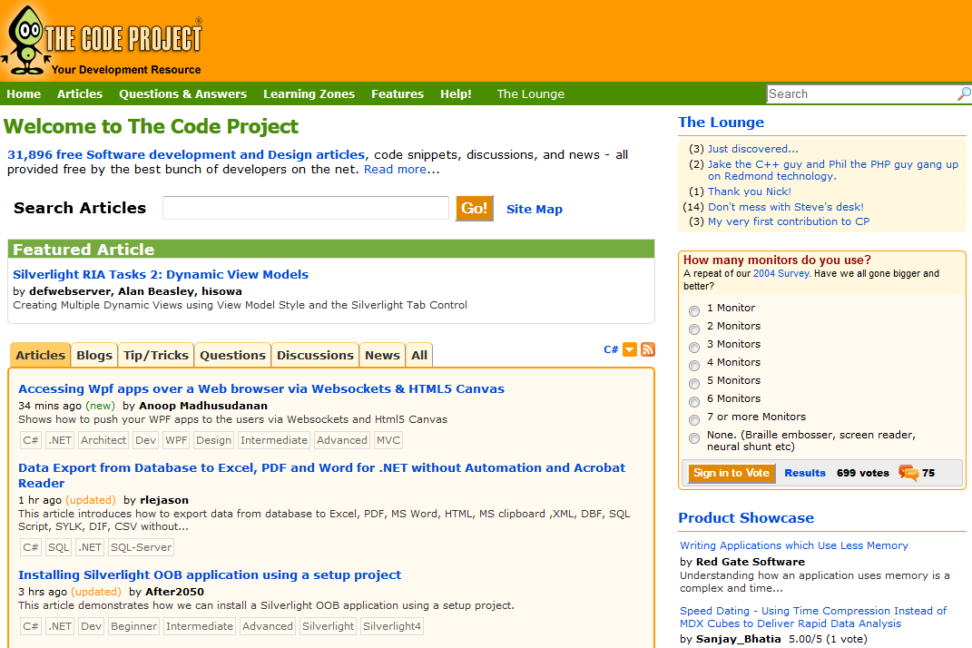 Redesigning CodeProject - CodeProject