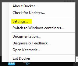 Getting started on Docker with Windows and hosting Nodejs