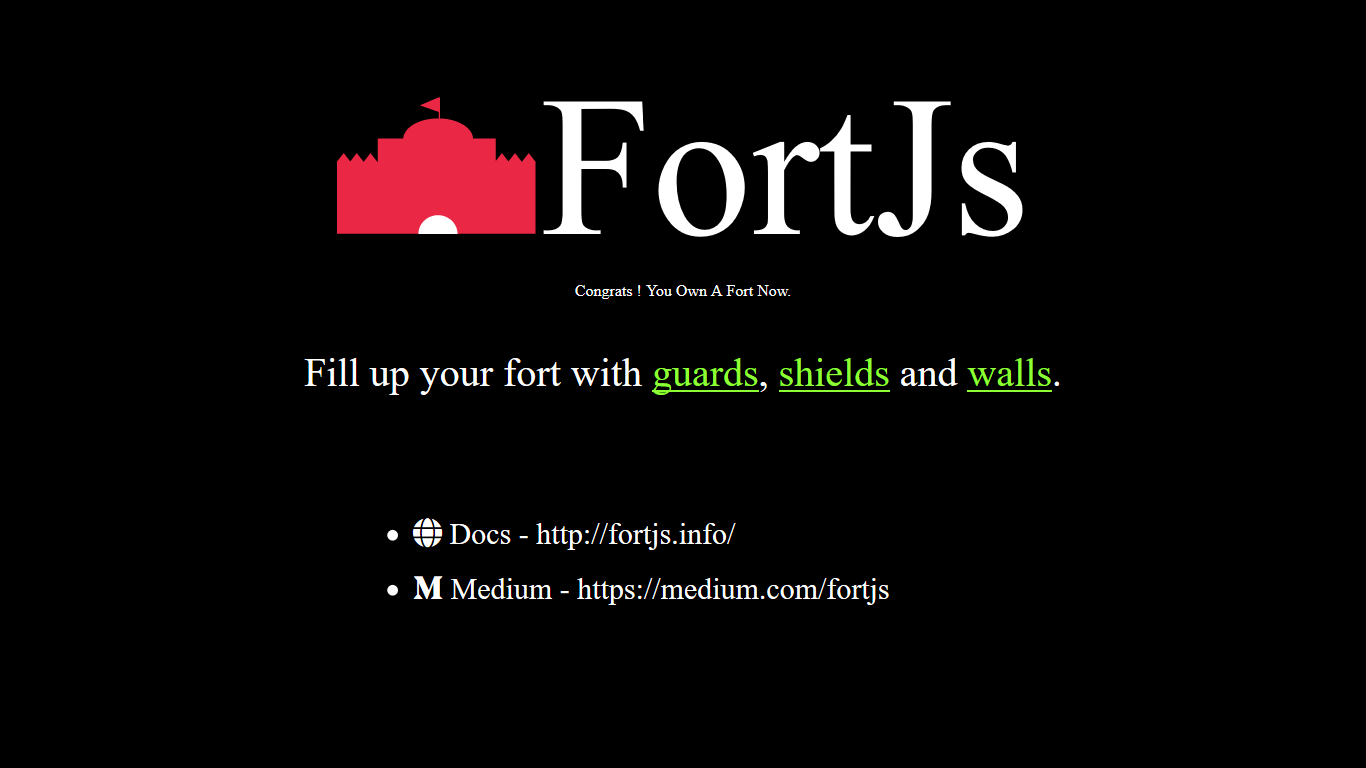 fortjs start page