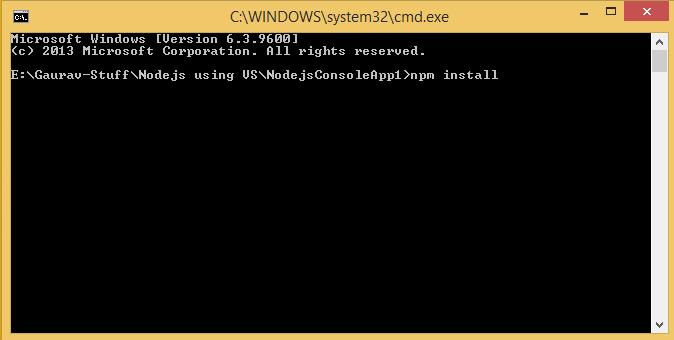 install node.js tools for visual studio