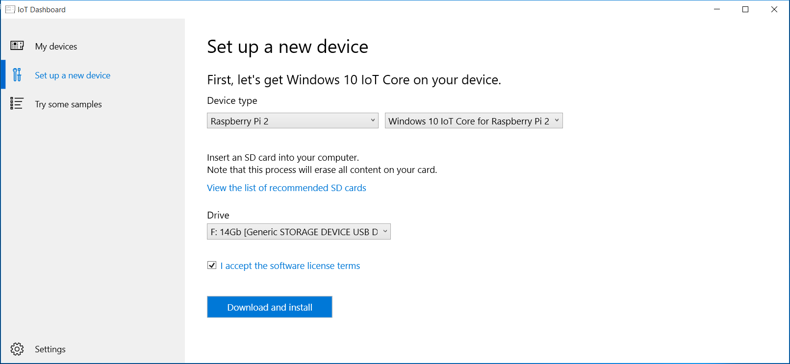 Installing Windows 10 IoT core on Raspberry Pi 2 - CodeProject