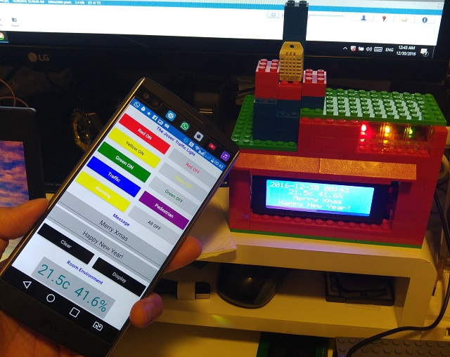 Remote controlled LED / Weather Station / Message Display