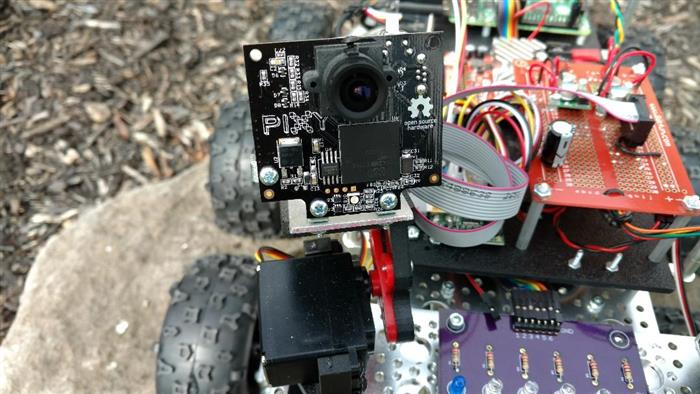Tracking Objects with Pixy Visual Sensor on Raspberry Pi