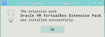Virtualbox_ExtensionPack_InstalledSuccessfully