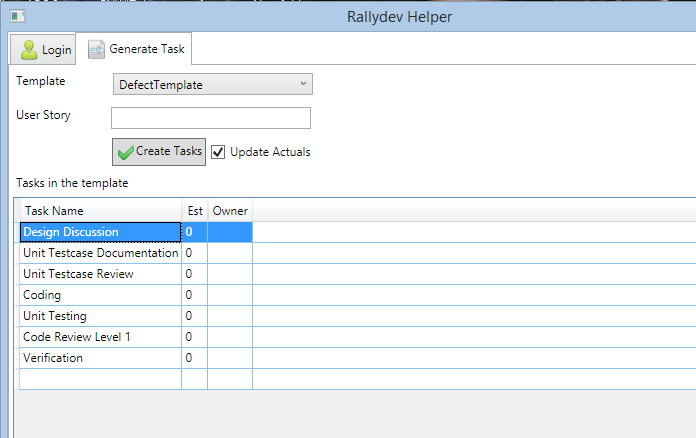 Rallydev - Automate Task creation using Rally REST API - CodeProject