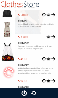 e-commerce mobile - homeView