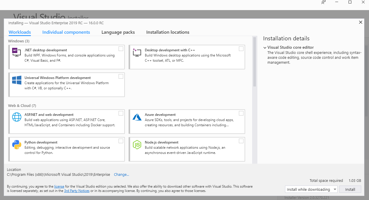 Getting Started with Visual Studio 2019 RC - Part 1