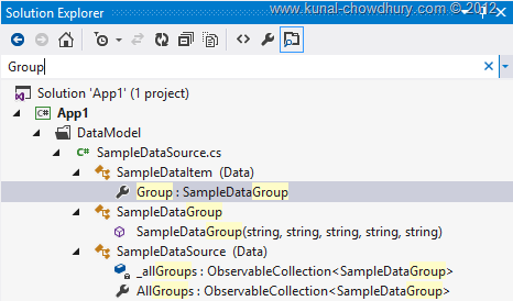 Search in Visual Studio 2012 Solution Explorer