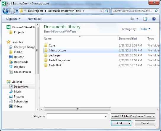 how to add ucf files to project