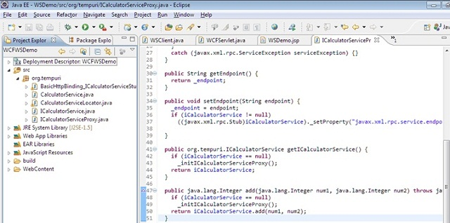 Consuming WCF Service in Java Client - CodeProject
