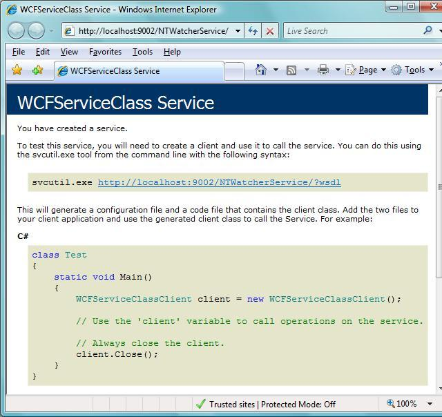 Internet Explorer consuming WCF