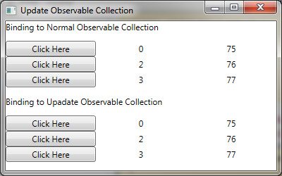 Observablecollection string not updating
