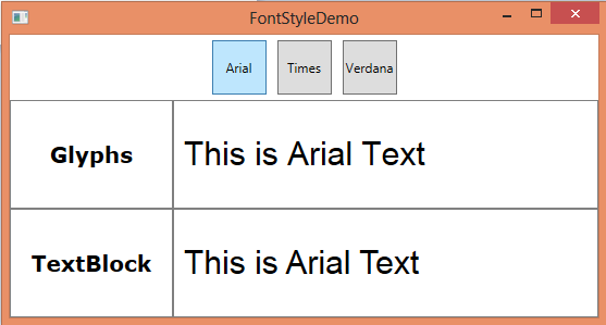 Developing WPF Applications to Choose Best FontFamily and Display