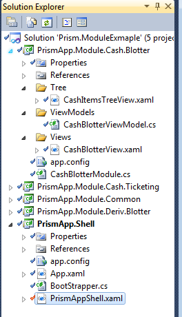 Prism, WPF, and Unity based modular application step by step