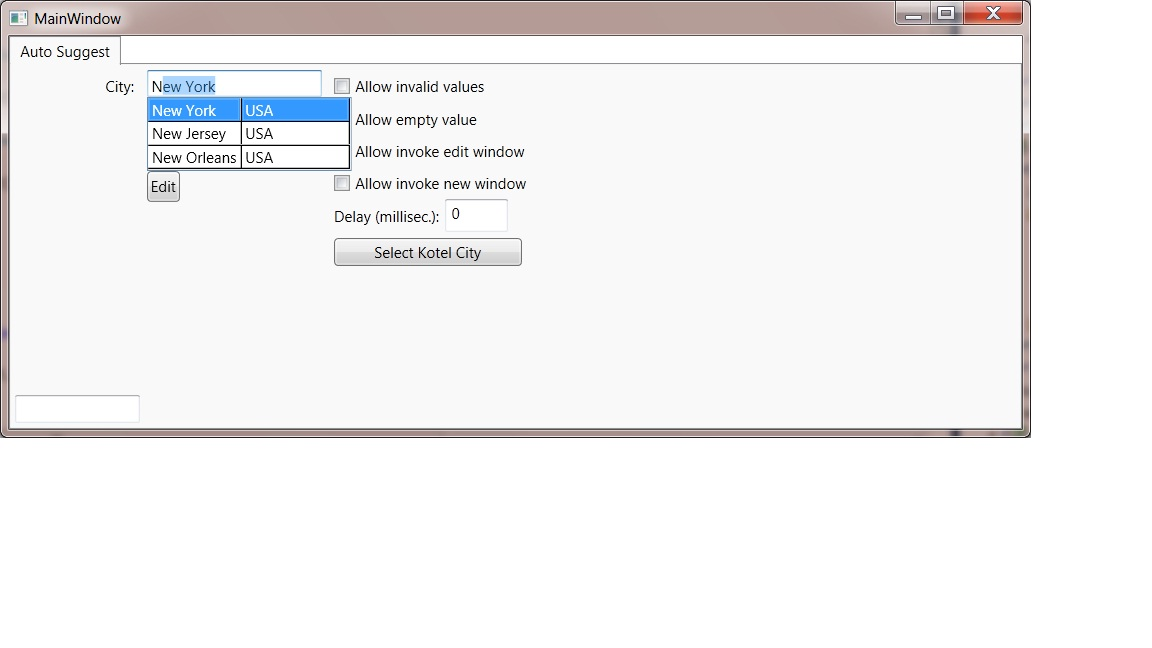 AutoSuggest and AutoComplete control in WPF - CodeProject
