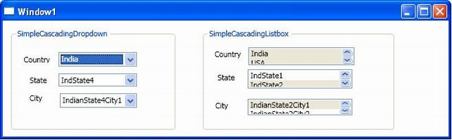 Cascading Dropdown & Multiselect Option in ListBox Using WPF